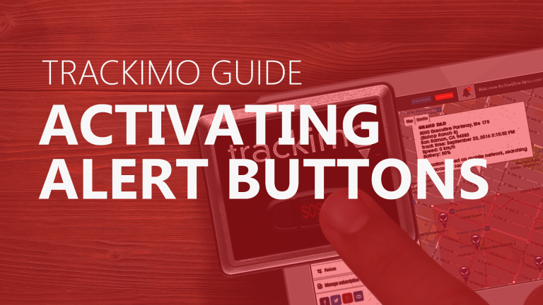 Trackimo - Activating the Alert Buttons