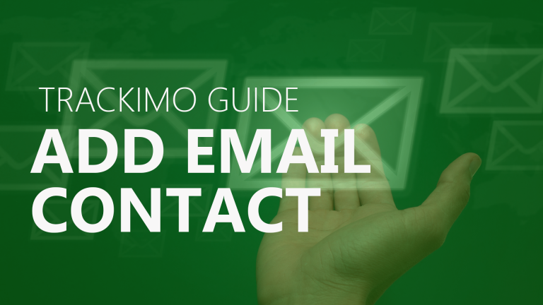 Trackimo - Add Email Contact