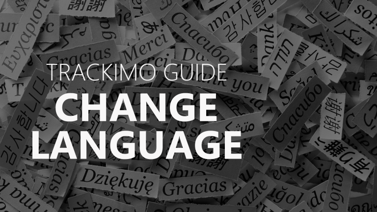 Trackimo - Change Language