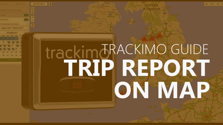 Trackimo - Trip Report on Map